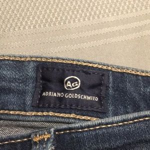 AG  Adriano Goldschmied boot cut jeans.